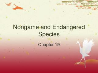 Nongame and Endangered Species