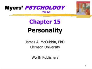 Myers'  PSYCHOLOGY 				(7th Ed)