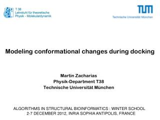 Modeling conformational changes during docking