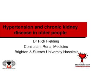 Hypertension and chronic kidney disease in older people