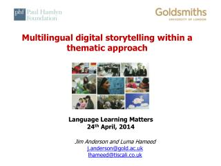 Multilingual digital storytelling within a thematic approach