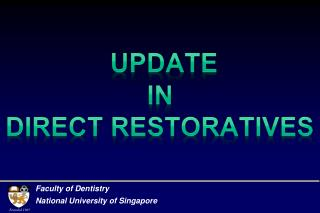 Update  in  direct restoratives