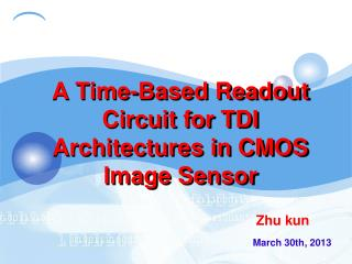 A Time-Based Readout Circuit for TDI Architectures in CMOS Image Sensor