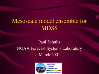 Mesoscale model ensemble for MDSS