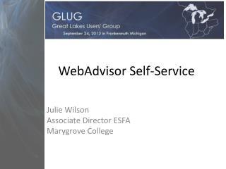 WebAdvisor Self-Service