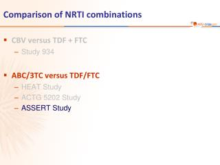 Comparison of NRTI combinations