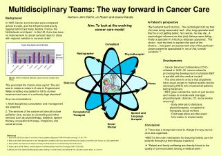 Multidisciplinary Teams: The way forward in Cancer Care