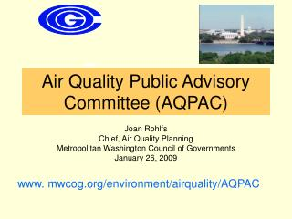 Air Quality Public Advisory Committee (AQPAC)