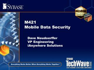M421 Mobile Data Security