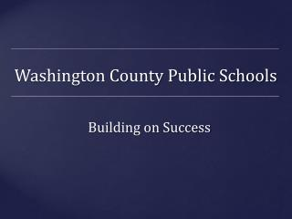 Washington County Public Schools