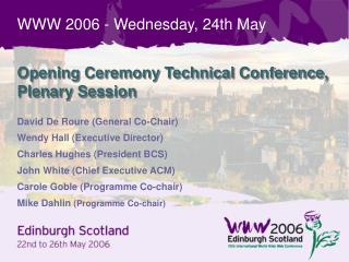 WWW 2006 - Wednesday, 24th May