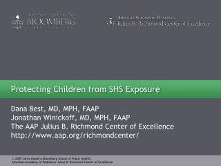 Protecting Children from SHS Exposure