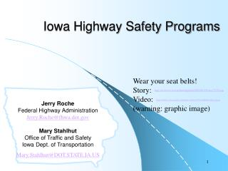 Iowa Highway Safety Programs