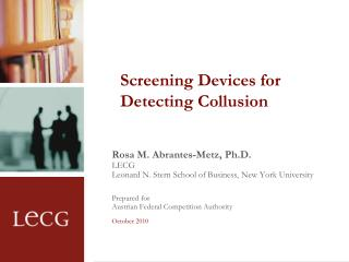 Screening Devices for Detecting Collusion
