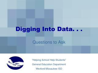 Digging Into Data. . .