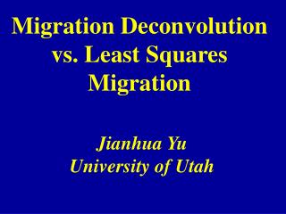 Migration Deconvolution vs. Least Squares Migration