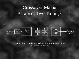 Crossover-Mania A Tale of Two Timings
