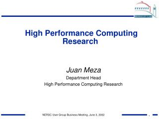 High Performance Computing Research