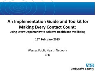 Wessex Public Health Network CPD