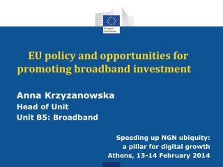 EU policy and opportunities for promoting broadband investment