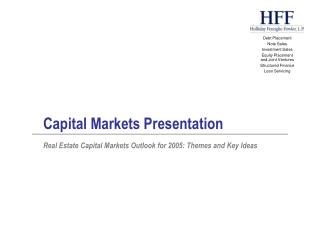 Capital Markets Presentation