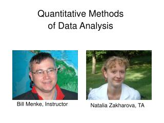 Quantitative Methods of Data Analysis
