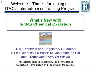 What's New with In Situ Chemical Oxidation