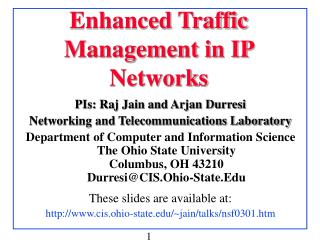 Enhanced Traffic Management in IP Networks