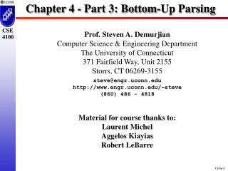 Chapter 4 - Part 3: Bottom-Up Parsing