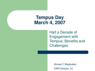 Tempus Day March 4, 2007
