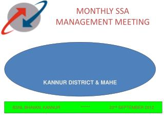 MONTHLY SSA MANAGEMENT MEETING