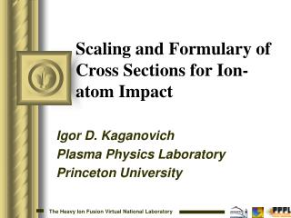Scaling and Formulary of Cross Sections for Ion-atom Impact
