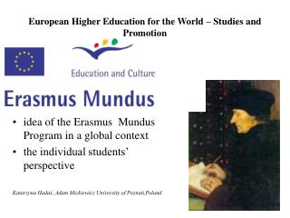 European Higher Education for the World – Studies and Promotion