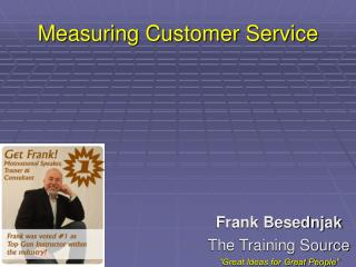 Measuring Customer Service