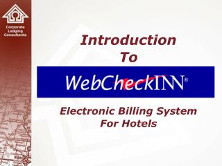 Introduction To    Electronic Billing System For Hotels