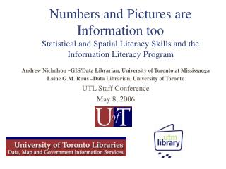 Numbers and Pictures are Information too  Statistical and Spatial Literacy Skills and the Information Literacy Program