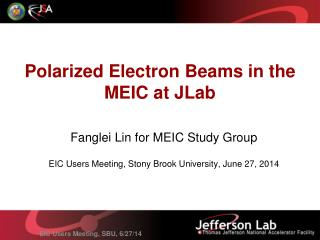 Polarized Electron Beams in the MEIC at JLab