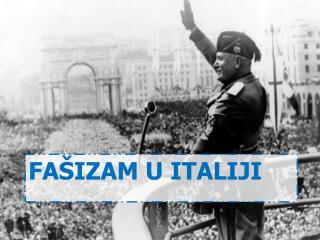 fašizam u italiji