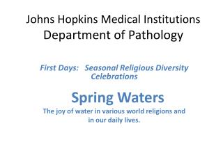 Johns Hopkins Medical Institutions Department of Pathology