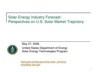 Solar Energy Industry Forecast: Perspectives on U.S. Solar Market Trajectory