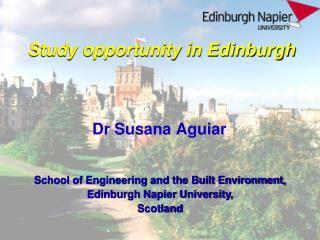 Study opportunity in Edinburgh