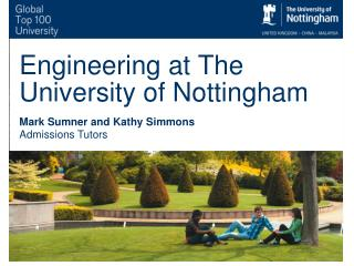 Engineering at The University of Nottingham