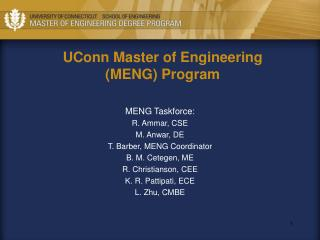 UConn Master of Engineering (MENG) Program