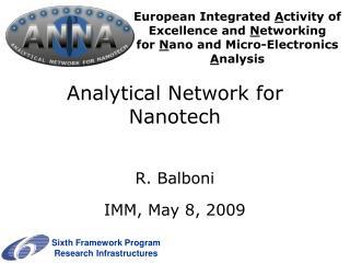 Analytical Network for Nanotech