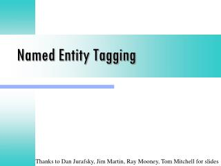 Named Entity Tagging