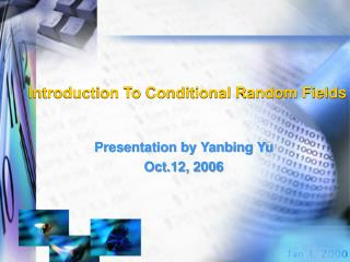 Introduction To Conditional Random Fields