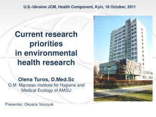U.S.-Ukraine JCM, Health Component, Kyiv, 18 October, 2011