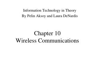 Chapter 10 Wireless Communications