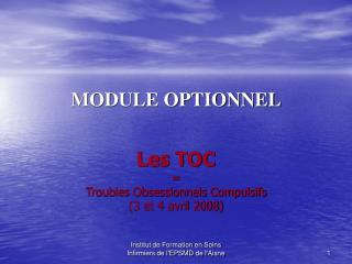 MODULE OPTIONNEL