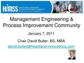 Management Engineering & Process Improvement Community